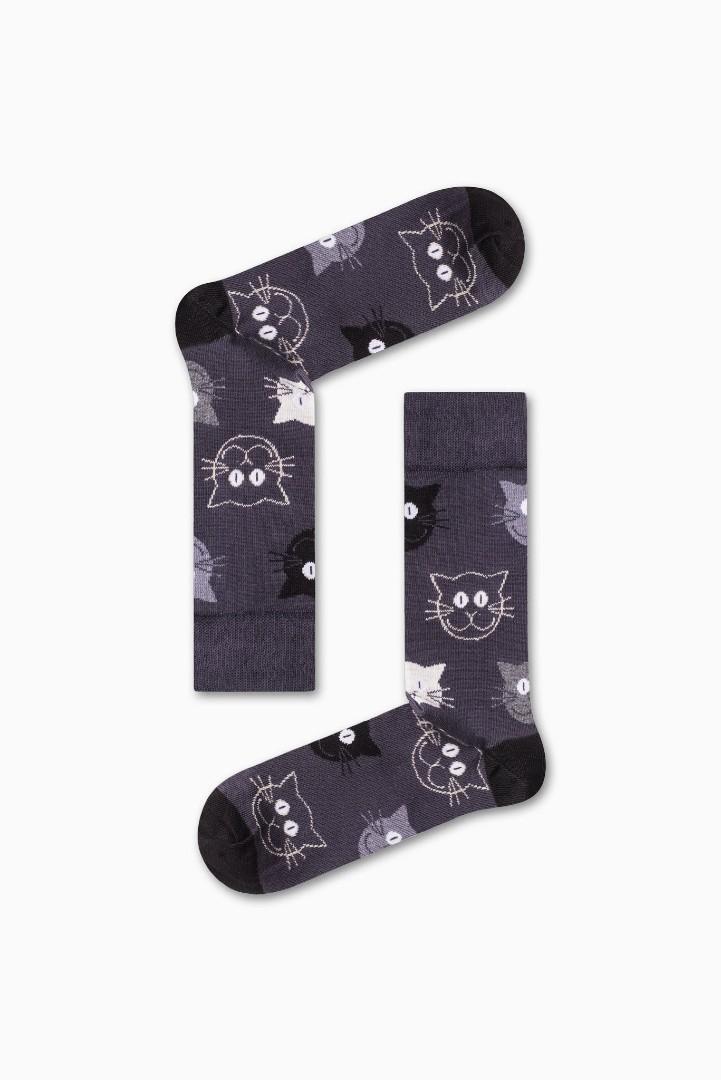 Κάλτσα Cat v3 Χωρίς Ραφές Vtexsocks