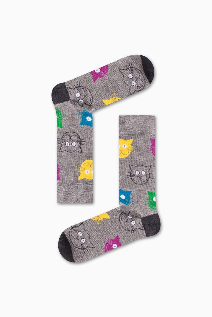 Κάλτσα Cat v4 Χωρίς Ραφές Vtexsocks