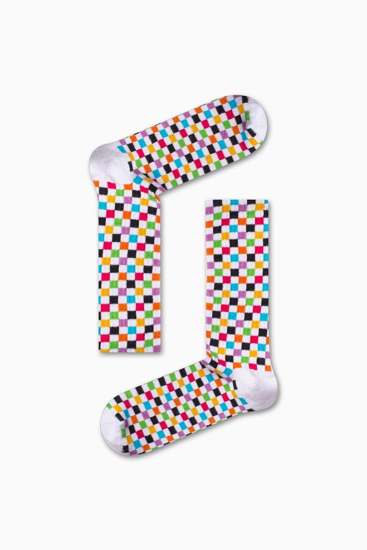 Κάλτσα Color Squares Χωρίς Ραφές Vtexsocks