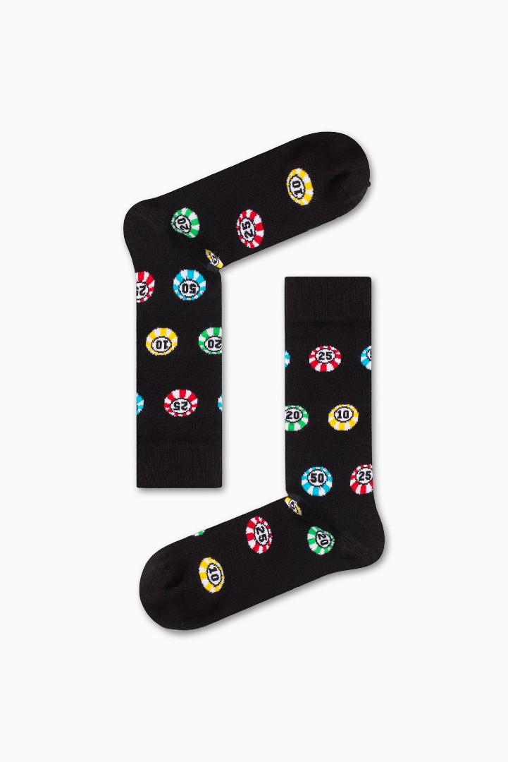 Κάλτσα Poker Chips Χωρίς Ραφές Vtexsocks