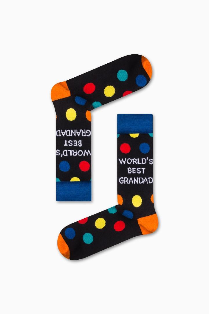 """Κάλτσα World""""s Best GranDad Χωρίς Ραφές Vtexsocks"""