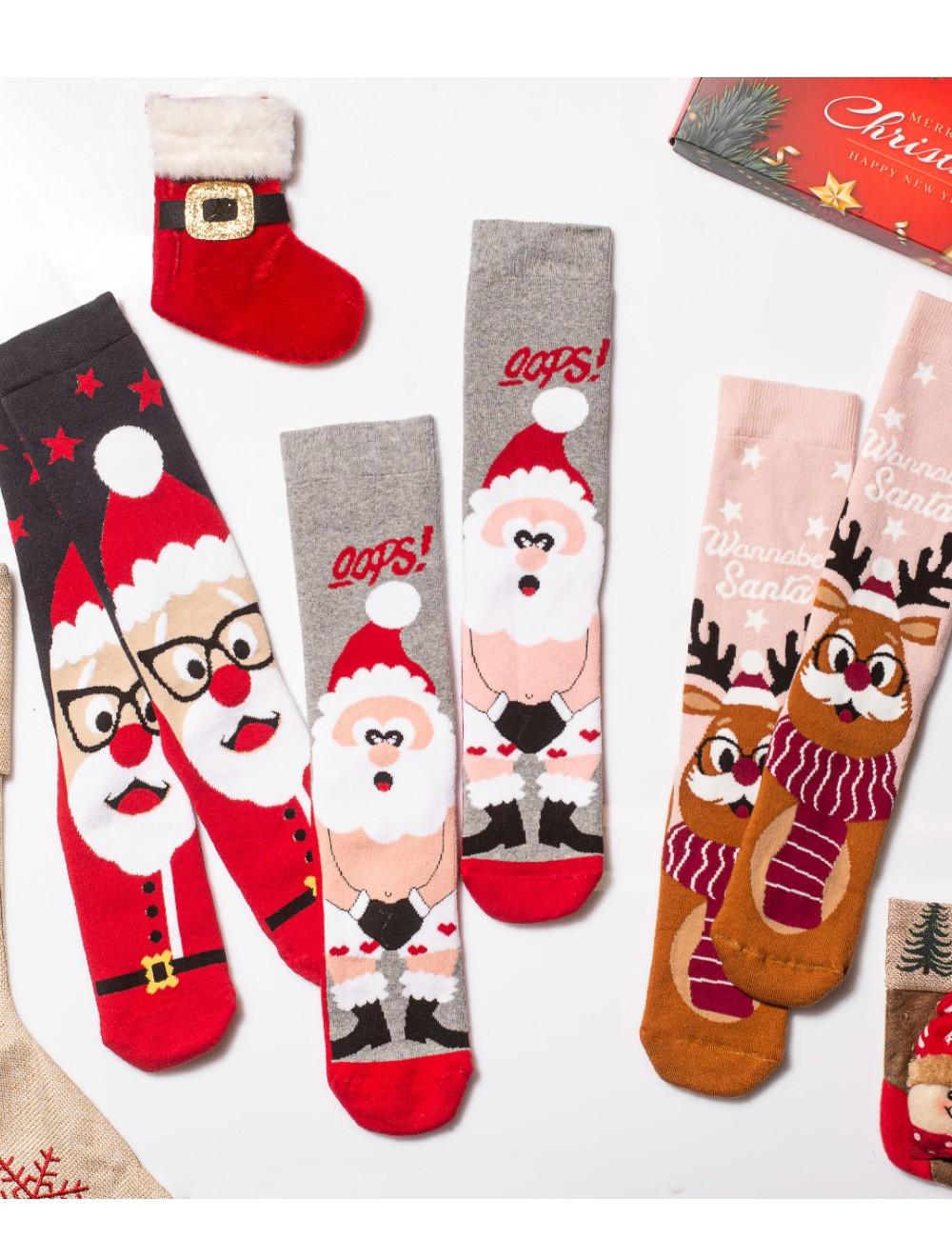 Κάλτσες Χριστουγεννιάτικες Wanna be Santa Vtexsocks Σετ 3 τμχ