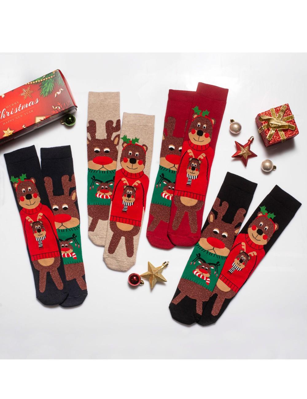 Κάλτσες Χριστουγεννιάτικες Bears and Deers Vtexsocks Σετ 4 τμχ