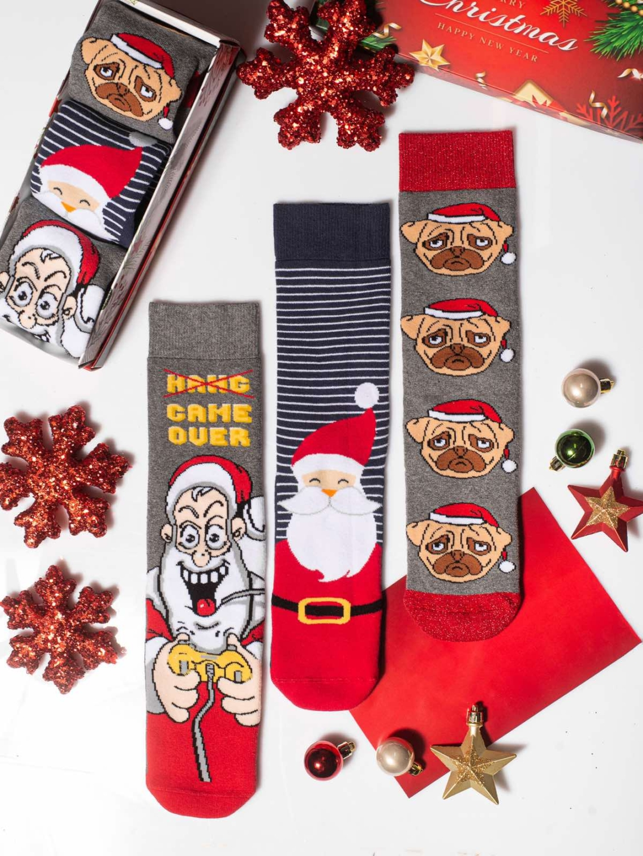 Χριστουγεννιάτικες Κάλτσες Santa Game Over Vtexsocks