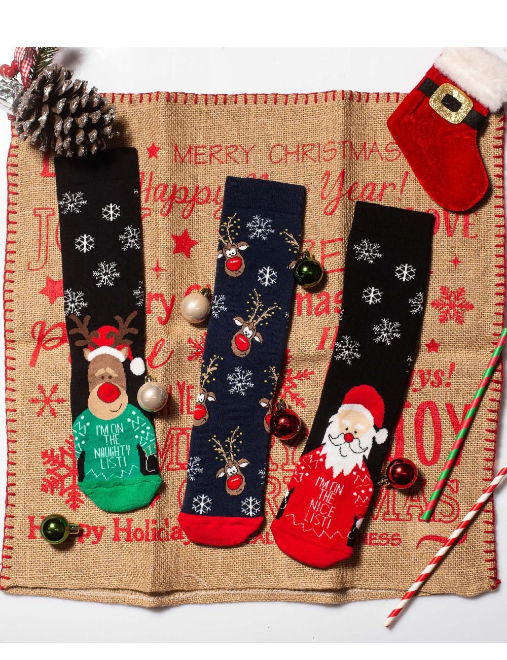 Κάλτσες Χριστουγεννιάτικες Christmas List Vtexsocks Σετ 3 τμχ