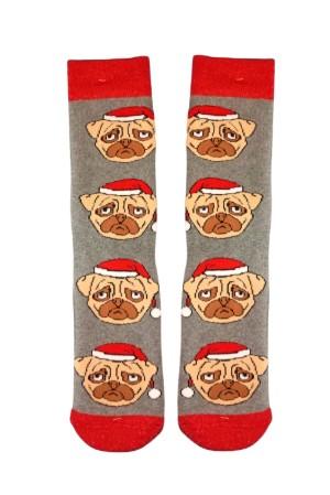 Χριστουγεννιάτικες Κάλτσες Christmas Pug Vtexsocks