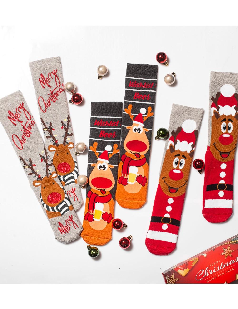 Κάλτσες Χριστουγεννιάτικες Merry Christmas Vtexsocks Σετ 3 τμχ