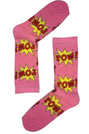 Κάλτσα Pow Pink Χωρίς Ραφές Vtexsocks