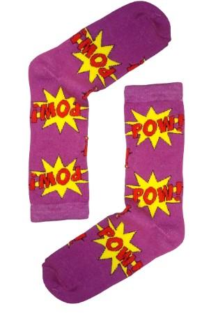 Κάλτσα Pow Purple Χωρίς Ραφές Vtexsocks