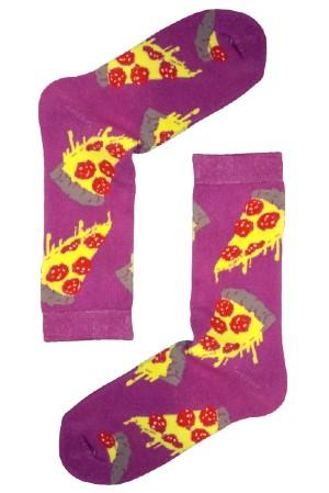 Κάλτσα Yummy Pizza Χωρίς Ραφές Vtexsocks