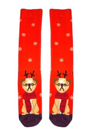 Χριστουγεννιάτικες Κάλτσες Pug in Snow Vtexsocks