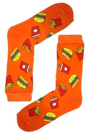 Κάλτσα Burgers & Potatoes v1 Χωρίς Ραφές Vtexsocks