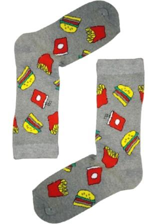 Κάλτσα Burgers & Potatoes v2 Χωρίς Ραφές Vtexsocks