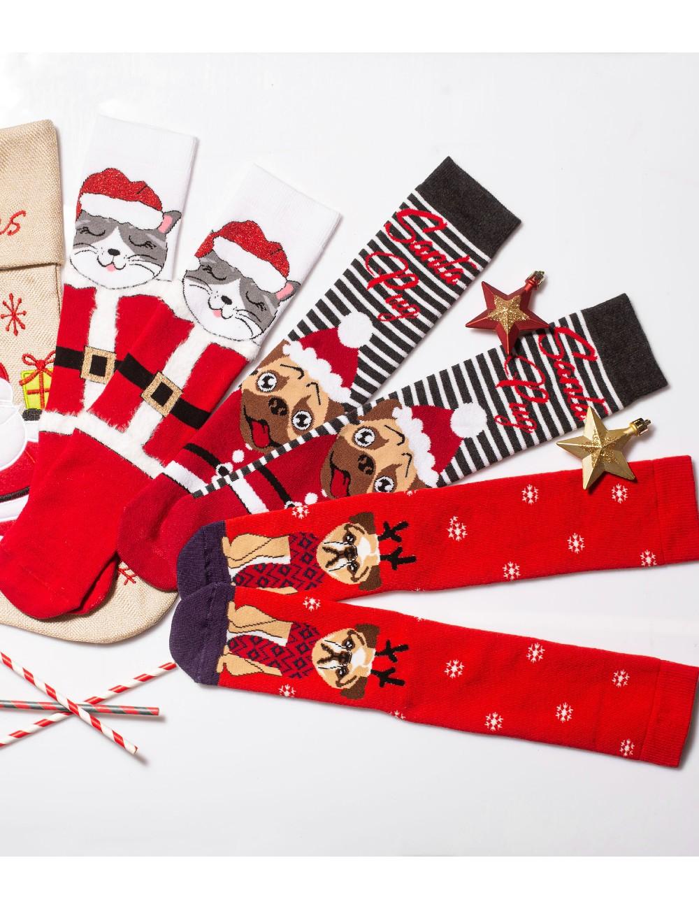 Κάλτσες Χριστουγεννιάτικες Christmas Animals Vtexsocks Σετ 3 τμχ