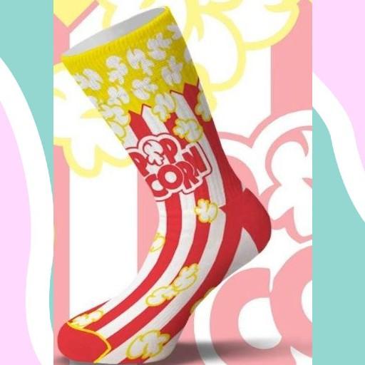 Κάλτσα Pop Corn Red Χωρίς Ραφές Vtexsocks