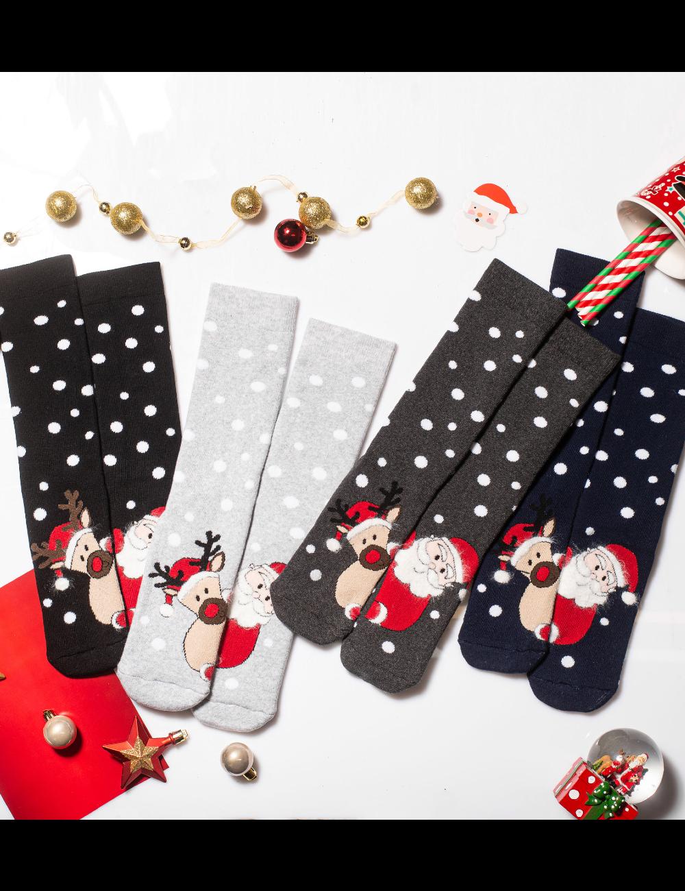 Κάλτσες Χριστουγεννιάτικες Santa & Rudolf Vtexsocks Σετ 4 τμχ