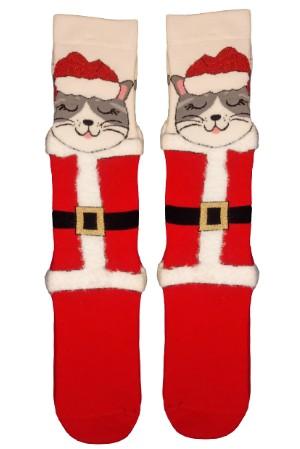 Χριστουγεννιάτικες Κάλτσες Santa Cat Vtexsocks