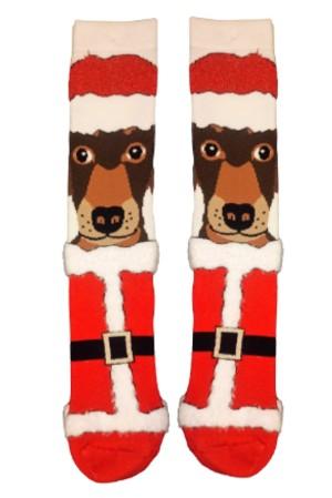 Χριστουγεννιάτικες Κάλτσες Santa Dog Vtexsocks