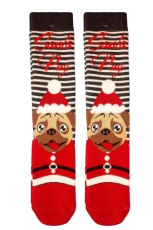 Χριστουγεννιάτικες Κάλτσες Santa Pug Vtexsocks