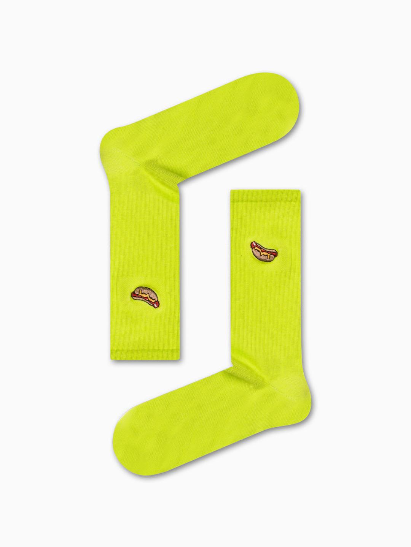 Κάλτσα Green Hot Dog Χωρίς Ραφές Vtexsocks
