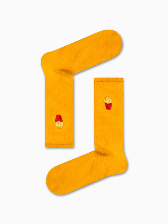 Κάλτσα Yellow Chips Χωρίς Ραφές Vtexsocks