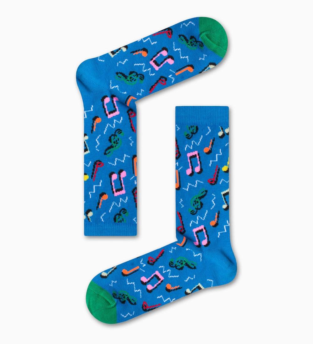Κάλτσα Blue Music Notes Χωρίς Ραφές Vtexsocks