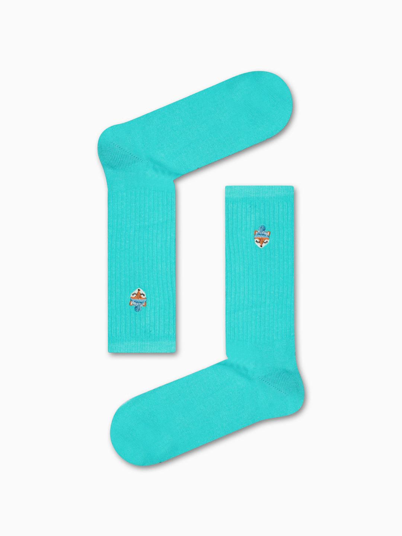 Κάλτσα Blue Tiny Fox Χωρίς Ραφές Vtexsocks