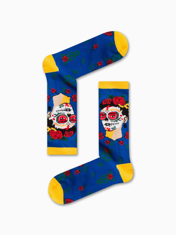 Κάλτσα Dia De Frida Blue Χωρίς Ραφές Vtexsocks