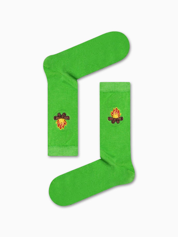 Κάλτσα Green Little Fire Χωρίς Ραφές Vtexsocks