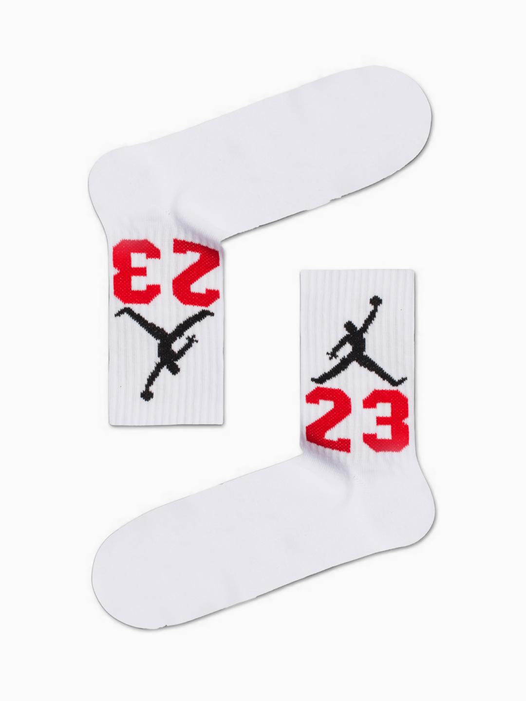 Κάλτσα Jordan 23 White Χωρίς Ραφές Vtexsocks
