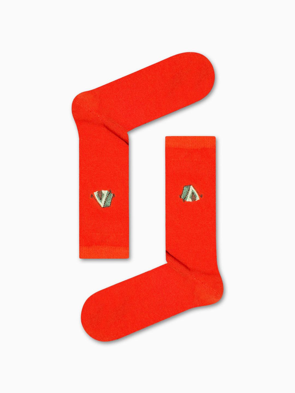 Κάλτσα Orange Camping Tent Χωρίς Ραφές Vtexsocks