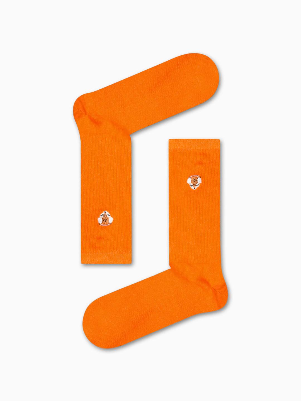 Κάλτσα Orange Tiny Fox Χωρίς Ραφές Vtexsocks