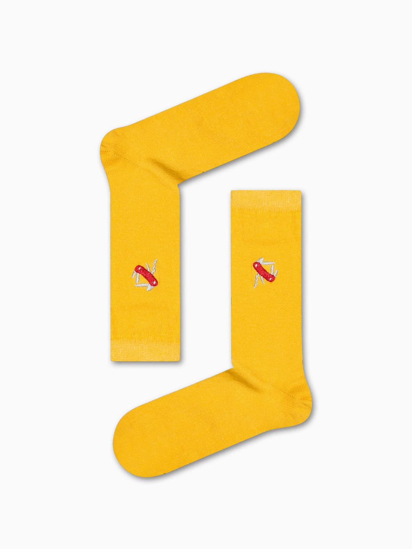 Κάλτσα Yellow Pocket Knife Χωρίς Ραφές Vtexsocks